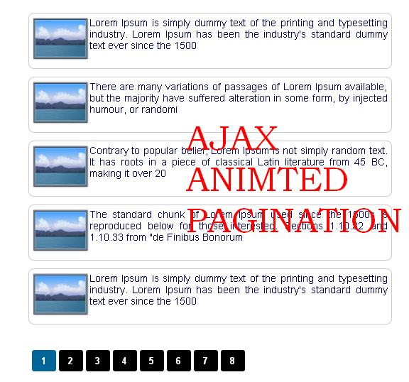 I Have Created An Ajax JQuery Based Pagination Few Months Before Which My Users Liked Very Much And There Are Thousands Of Downloads That Tutorial