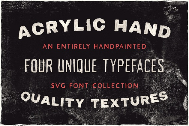 ACRYLIC HAND THICK - free typography font collection