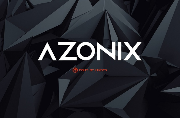 Azonix - free typography font collection