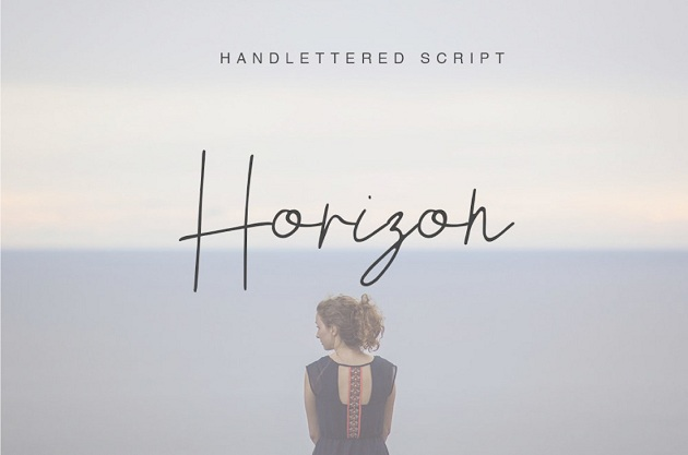 HORIZON - free typography font collection