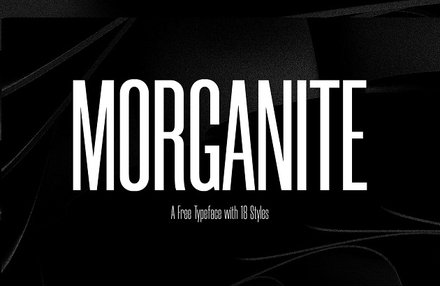 Morganite  - free typography font collection