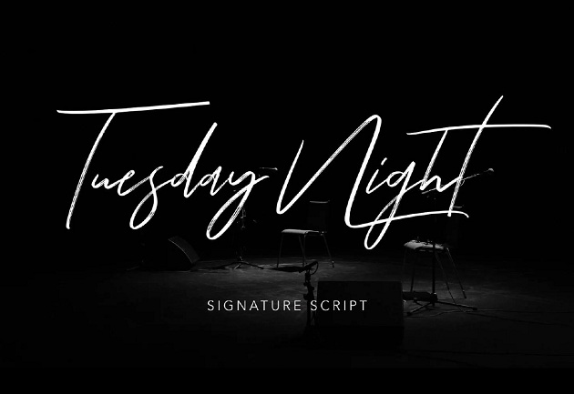 TUESDAY NIGHT - free typography font collection