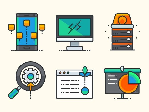 web-and-application-development-icons
