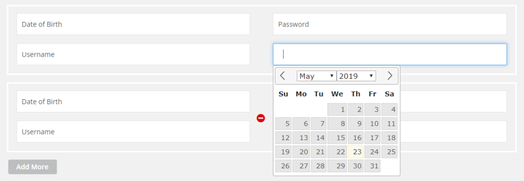 jquery datepicker dynamic binding