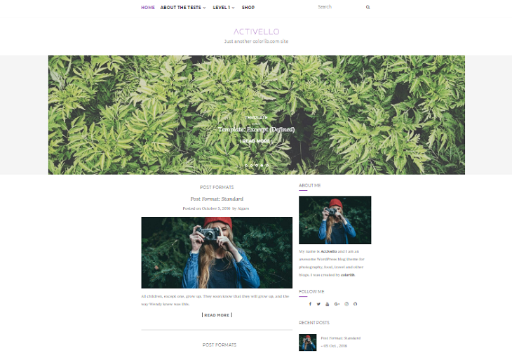 Activello WordPress Themes, free themes for wordpress