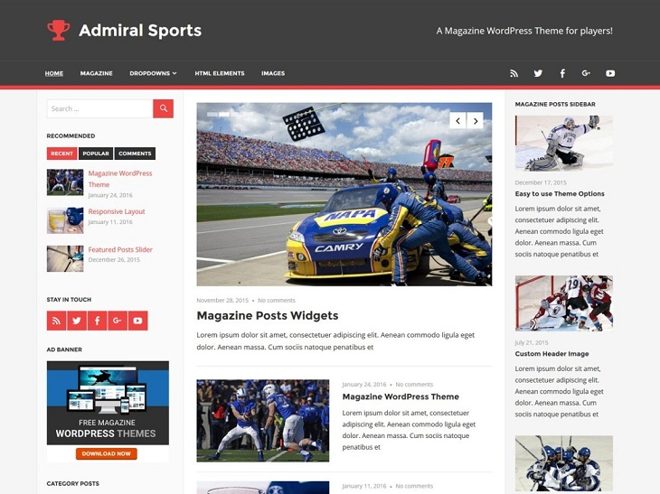 Admiral WordPress Themes, best customizable wordpress themes