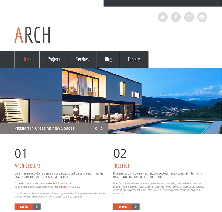 Architecture Resume website template, interactive resume websites