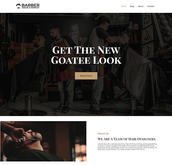 Barber Shop WordPress Themes, free wordpress templates responsive