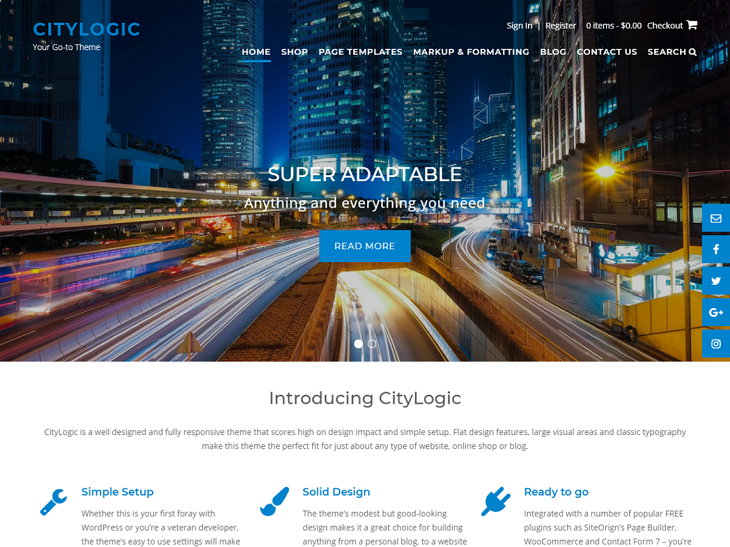 CityLogic WordPress Themes, free wordpress blog themes