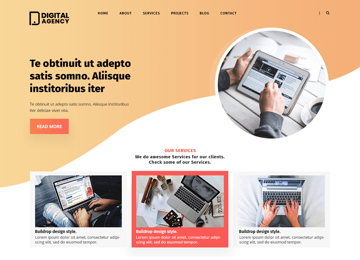 Digital Agency Lite WordPress Themes, free wordpress templates
