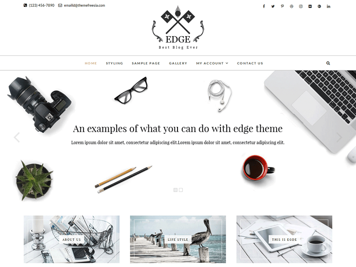 Edge WordPress Themes, best free wp themes