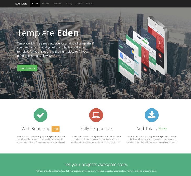 Expose Resume website template, personal resume sites