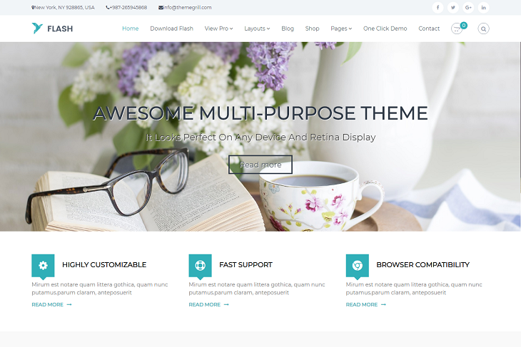 Flash WordPress Themes, best free wordpress templates