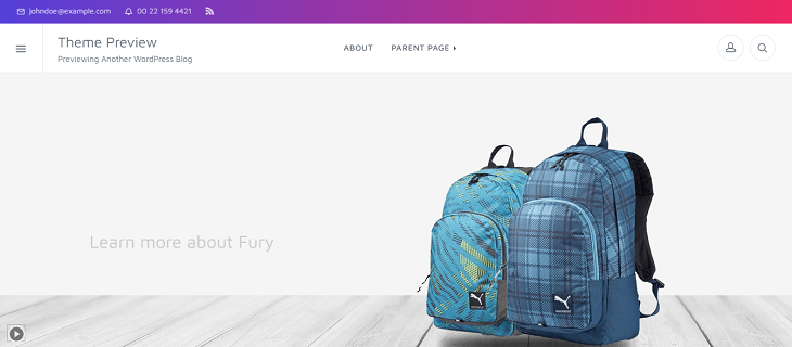 fury WordPress Themes, best free wordpress themes