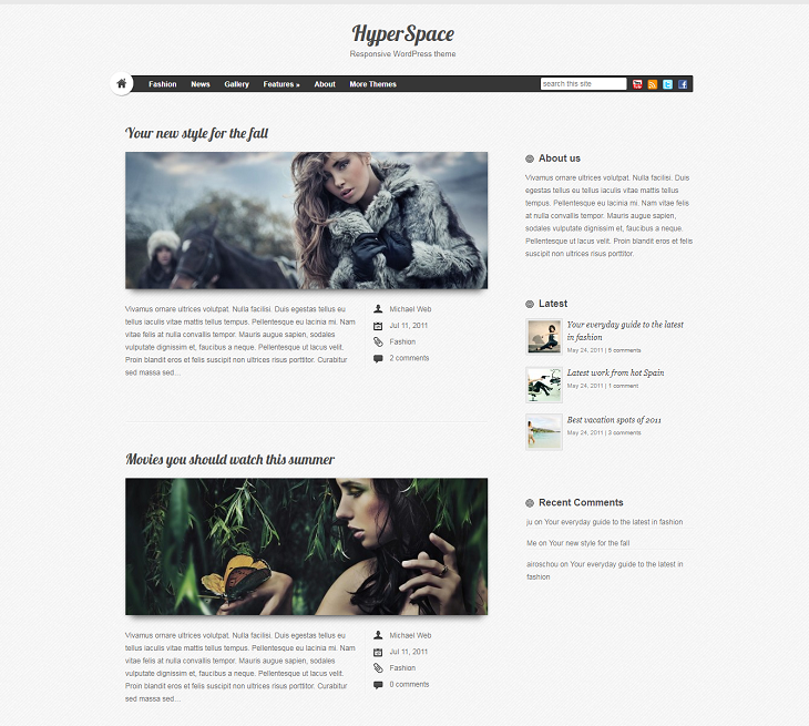 HyperSpace Resume website template, online resume websites