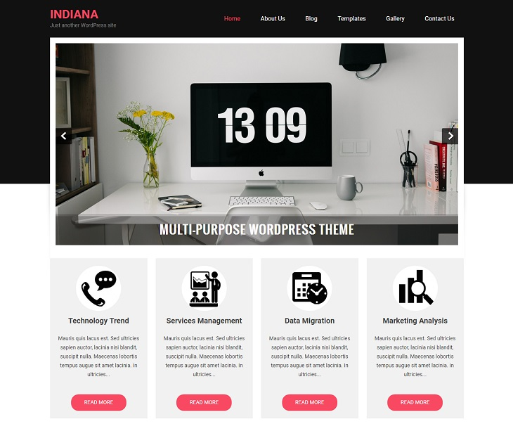 Indiana WordPress Themes, ree wordpress themes for business