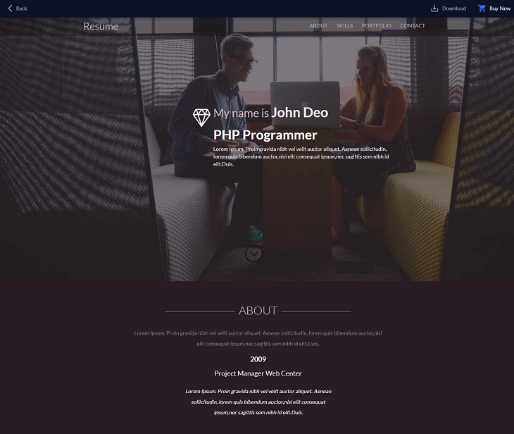 Resume Portfolio Resume website template, resume web page