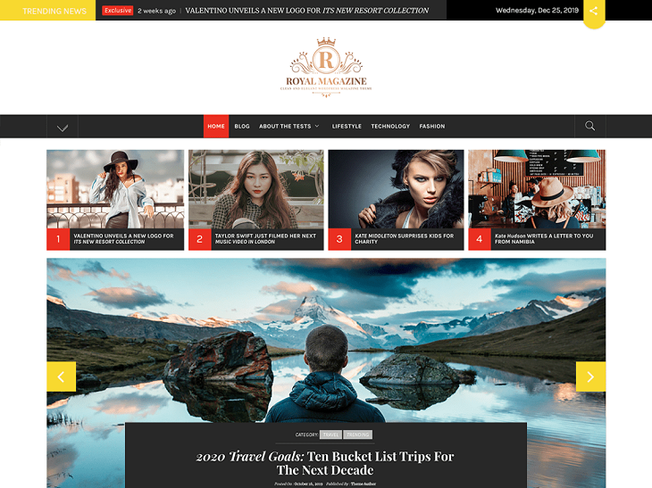 Royal Magazine WordPress Themes, wordpress free templates