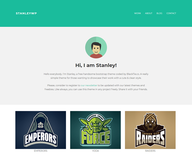 StanleyWP WordPress Themes, free customizable wordpress themes