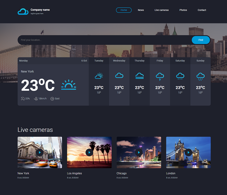 Steel Weather Resume website template, best online resumes