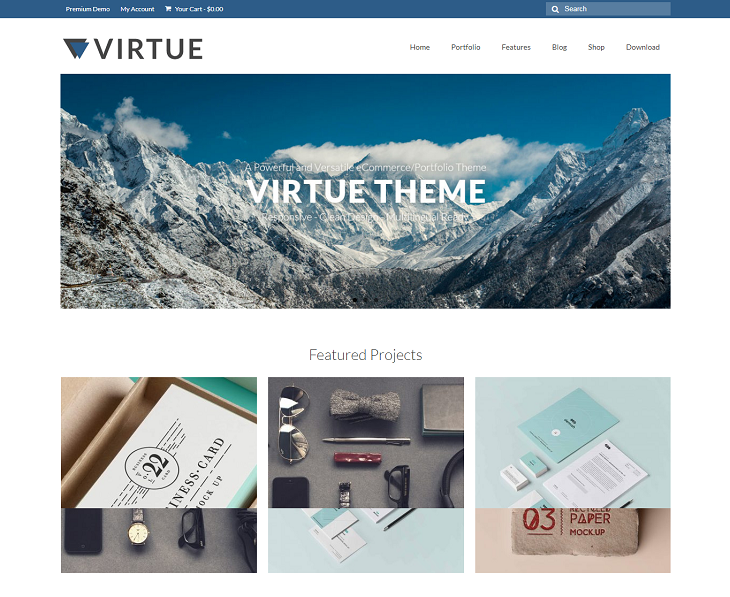 Virtue WordPress Themes, wordpress free theme